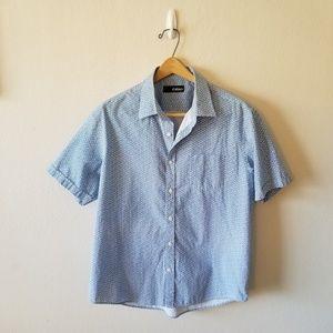 Cultura Blue & White Short-Sleeve Shirt XL